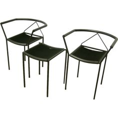 1stdibs.com | Pair of Zeus Chairs and Stool