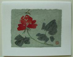 $4.99  Hand Made Asian Insect Flower Fine ART Blank Card BY DAO YAN HU | eBay  #holiday #stationary #greetingcard