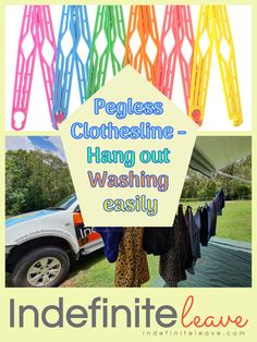 Hang out your washing easily with the Pegless Clothesline. No pegs, so easy to use! Click through to find out how to assemble, use and order> #peglessclothesline #hangoutwashingeasily #travel #foldsaway #australiatravel Clothes Line, How To Find Out, How To Make, Australia Travel, Hanging Out, Easy, Products, Australia Destinations, Gadget