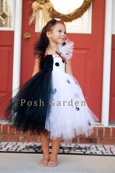 88 of the Best DIY No-Sew Tutu Costumes - DIY for Life Cruella DeVille