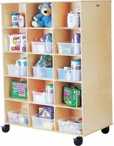 The Big Twin Double Side Rolling Cubbie Unit is both sturdy and made to last. Perfect for classrooms  #classroomfurniture http://www.sensoryedge.com/jonti-craft-big-twin-30-unit-cubbie.html