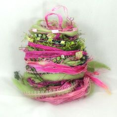 Pink Orchid Elements 26yds Art Yarn Bundle by FishBayElements