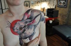 Free bunny! Not a bad idea for a mastectomy cover-up tattoo. [p-ink.org]