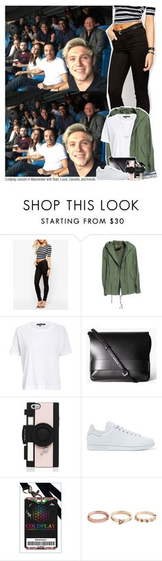 """Coldplay concert in Manchester with Niall, Louis, Danielle,and friends"" by sixsensestyles ❤ liked on Polyvore featuring Oasis, Mr & Mrs Italy, rag & bone/JEAN, Kate Spade, adidas Originals and Kendra Scott"