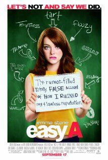 "226 Days of Romantic Films: Till Valentines:...EASY A... early Emma Stone showing signs of future stardom.  LOVE STORY AD A LITTLE WHITE LIE A high school comedy that stays true to form with the help of heavy hitters Haden Church, Stan Tucci, Patricia Clarkson and Lisa Kudrow. If you haven't read ""The Scarlet Letter"" fire up the kindle, nows your chance. QUOTE: ""What better way to share my private thoughts than to broadcast them on the internet?"""