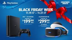 PlayStation's Black Friday 2017 deals: $200 PS4, PS VR bundles and cheap controllers The Black Friday floodgates officially opened this week as virtually every retailer and company in the country began sharing the details of their upcoming sales events. On Friday, Sony joined in by revealing its own Black Friday deals, which are some ... #gameconsolesblackfriday2017