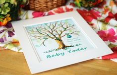 Handpainted Baby Shower Thumbprint Tree by TailoredBrushstrokes