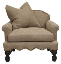 Franklin Burlap Club Chair, Khaki