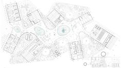 LCLA Office - Sta Marta, Centre for Marine investigations Masterplan Architecture, Architecture Plan, Architecture Details, Section Drawing Architecture, Library Drawing, Museum Plan, Urban Concept, Color Plan, Elevation Plan