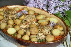 Pyszny obiadek, kurczak na warzywach - Kuchnia pokoleń - Kuchnia pokoleń Potato Salad, Potatoes, Ethnic Recipes, Food, Potato, Essen, Meals, Yemek, Eten