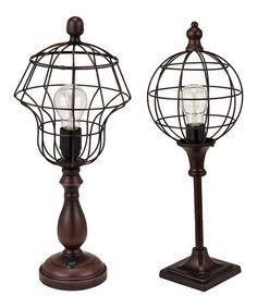 Look at this #zulilyfind! Black Cage Light - Set of Two #zulilyfinds