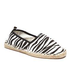 Look at this #zulilyfind! Zebra Jones Slip-On Espadrille #zulilyfinds