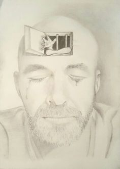 Mind Prison - depression sad mind prison graphite drawing pencil trapped