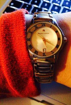 Old shcool Maurice Lacroix watch. #oldschool #mauricelacroix #wristshot#watch