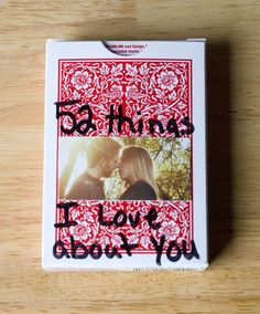 Write one thing you love about your boyfriend on each card! what a cute idea!! From Like To Love: January 2012