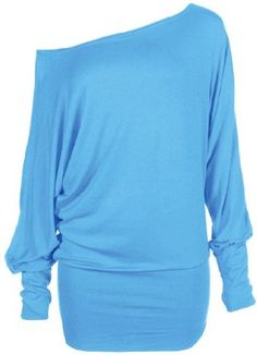 1.40 + 5.90 - Funky Boutique Women's Long Sleeve Off Shoulder Plain Batwing Top Turquoise 12-14 ML Hot Hanger http://www.amazon.com/dp/B009FV8FWU/ref=cm_sw_r_pi_dp_bbaYwb04AYR7S