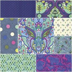 Slow and Steady Fat Quarter Bundle in Blue Raspberry