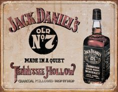 Jack Daniels Sign Tennessee Hollow is a brand new vintage tin sign made to look vintage, old, antique, retro. Purchase your vintage tin sign from the Vintage Sign Shack and save. Jack Daniels Chicken, Jack Daniels No 7, Bourbon, Whiskey Sour, Whiskey Girl, Rye Whiskey, Pub Signs, Wall Signs, Medias Red