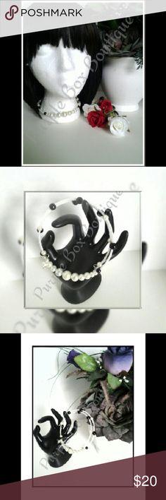 NWOT! Beaded Choker Elegant & stylish! Beaded choker.  Handmade by me - Ree Purple Box Boutique Jewelry Necklaces