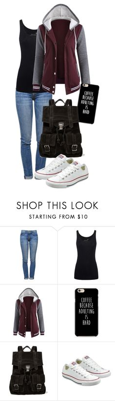 """school days"" by deliag ❤ liked on Polyvore featuring Current/Elliott, Juvia, Proenza Schouler and Converse"
