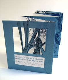 Shadow Factory by Molly Brooks Double-sided accordion book with cutouts. silkscreen translation of this original pen-and-ink version. Silkscreen printed on bristol. Concertina Book, Accordion Book, Zine, Book Art, Artist's Book, Frame By Frame Animation, Book Sculpture, Paper Artwork, Book Layout
