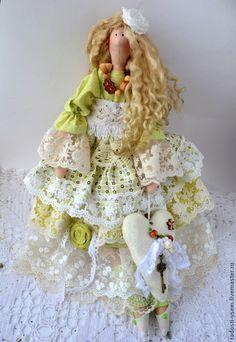 Тильда в стиле бохо, Интерьерная кукла #tilda #doll #boho