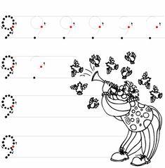 English Worksheets For Kindergarten, Kindergarten Worksheets, Numbers Preschool, Preschool Activities, Pre School, Alphabet, Lettering, Math, Preschool Math Activities