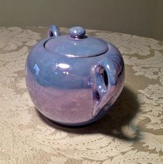 Vintage Blue Luster Ware Sugar Bowl / Made in  Japan by vintagepoetic