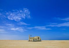 Church in Tombwa desert area - Angola | Abandonned portuguese colonial church on the Tombwa costal road. in the middle of nowhere