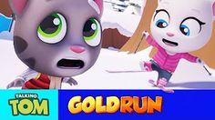 (10) Talking Tom Gold Run - Frosty Tom vs Talking Angela Snowboard Race - YouTube