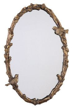 Uttermost 13575 P Paza Oval Mirror has a hand forged metal frame featuring a bird and vine design. With a distressed, antiqued gold leaf with a gray glaze finish Living Room Mirrors, Home Decor Mirrors, Mirror Bedroom, Wall Decor, Bedroom Wall, Bedroom Decor, Feng Shui, Uttermost Mirrors, Spiegel Design