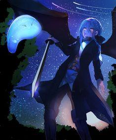That Time I Got Reincarnated as a Slime Anime Neko, Kawaii Anime, Ken Anime, Manga Anime, Anime Art, Slime Wallpaper, Wallpaper Desktop, Espada Anime, Blue Hair Anime Boy