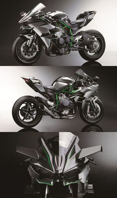 Kawasaki Ninja H2R - With 300hp from a supercharged engine, it's so fast it needs wings.: