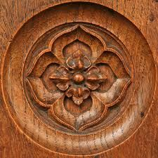 wood carving. Something like this for a mantle.