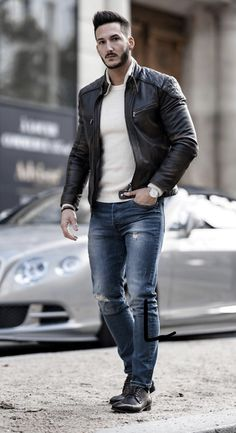144 fashion mens casual winter outfits fall – page 1 Trendy Mens Fashion, Big Men Fashion, Autumn Fashion Casual, Casual Winter Outfits, Fall Outfits, Men Casual, Cool Jackets For Men, Moda Formal, Outfits Hombre