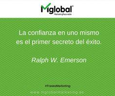 """""""La confianza en uno mismo es el primer secreto del éxito"""" Ralph W. Emerson #FrasesMarketing #MarketingRazonable"""