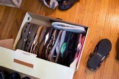 Packing footwears like this.