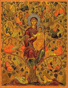 The Tree of Jesse - Daily Orthodox Readings and Crafts for the Family for Each Day of Advent and the Twelve Days of Christmas Tree Of Jesse, Russian Icons, Heart Tree, Winter Festival, Byzantine Art, Orthodox Icons, Blessed Mother, Mother Mary, Religious Art