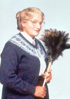 Robin Williams as Daniel Hillard/Mrs. Euphegenia Doubtfire in Mrs. Doubtfire.