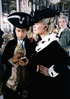 Kirsten Dunst as Marie Antoinette and Jason Schwartzman with electronics, photographed by Andrew Durham.