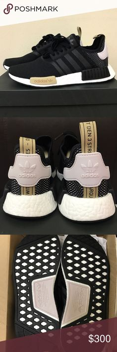 Adidas NMD Adidas women NMD R1 W, color : core black / Ice purple 100% Authentic come with original box . Will take a reasonable off but ❌No Trade❌ Adidas Shoes Athletic Shoes