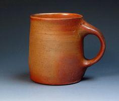 Nic Collins Anagama Wood Fired Mug, Wood Fired Stoneware Mug, Studio Pottery Mug, One of the Gnarly Dudes from England.