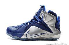 Nike Lebron 12 BLUE SILVER