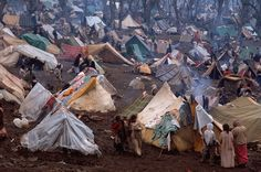 Bruno Barbey. Turkey. Uludere. 1991. Refugee Camp.