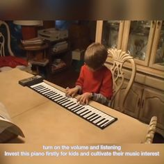 It is convinient to carry it with you , anytime and anywhere to play the piano. Great gift for piano lovers, for kids learning and beginners Learn Piano Beginner, Toddler House Bed, Best Educational Toys, Kids Bunk Beds, Piano Teaching, Piano Lessons, Piano Music, Musical, Funny Kids
