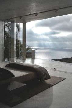 Bedroom With A View  Gorgeous. Imagine this with a view of the city. That's all I want in life.
