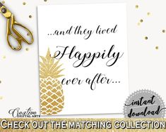 Happily Ever After Sign Bridal Shower Happily Ever After Sign Pineapple Bridal Shower Happily Ever After Sign Bridal Shower Pineapple 86GZU #bridalshower #bride-to-be #bridetobe
