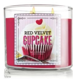 Red Velvet Cupcake:: Are you a bakery scente lover? Boy do I have a candle for you! It's Red Velvet Cupcake from Bath & Body Works. It's one yummy candle!