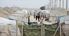 Temporary home: A Turkish refugee camp for victims of the fighting in the beseiged town of...