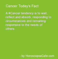 Cancer Daily Fun Fact............this certainly fits a type 4 energy...................